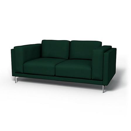 IKEA - Hoes voor 2-zitsbank Nockeby, Groen, Katoen - Bemz
