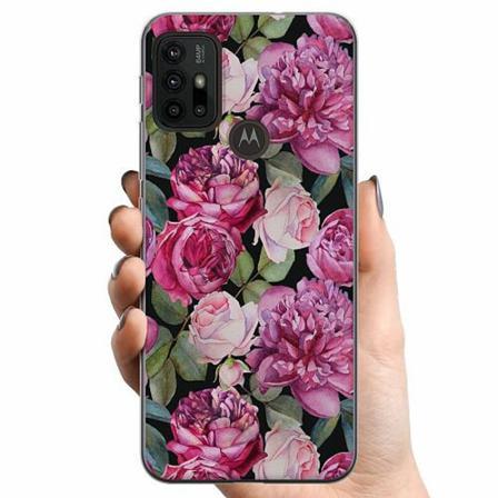 Motorola Moto G30 Tpu Mobilskal Purple Florals