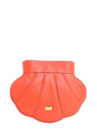 Moschino Väskor Dam Shoulder Bags Boutique Women's Leather Bag Läder Orange