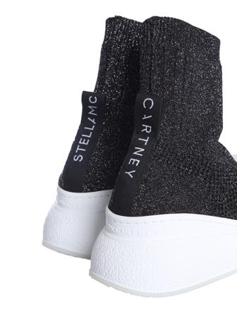 Stella Mccartney Sneakers Dam Women's Polyamide Slip On Polyamid/elastan Size 36 Svart