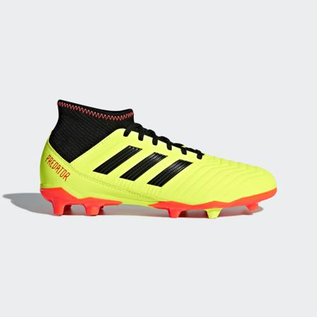 adidas Predator 18.3 FG J - Gul/Svart - unisex - Sko - Fotballsko - UK13 / EU31.5