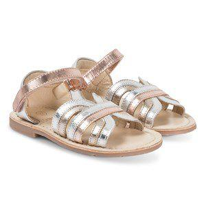 Carrément Beau Velcro Strap Sandals Silver/Bronze kids footwear 27 (UK 9)
